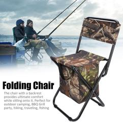 Fishing Chair Legs Office Eames Fosa Portable Folding Seat Stool With Backrest Storage Bag For Departments