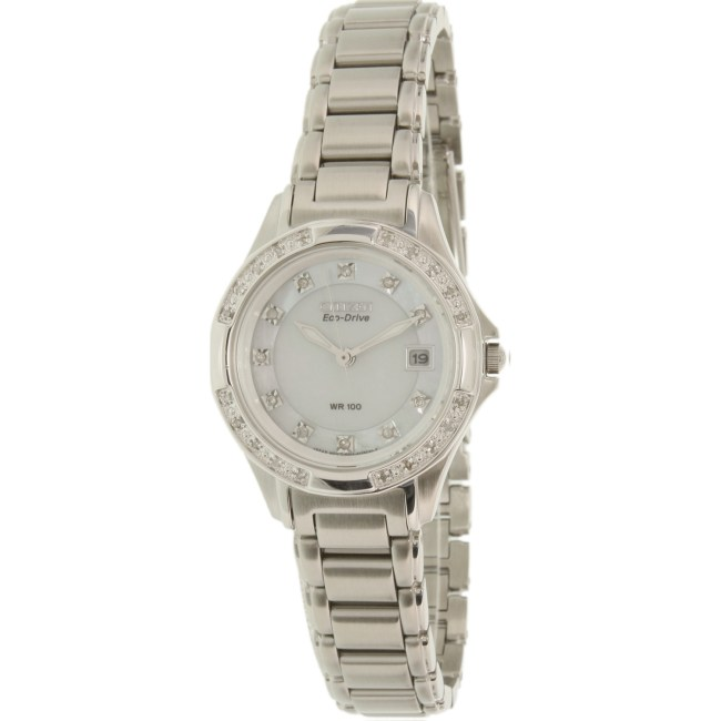 Citizen Women's Eco-Drive EW2130-51D Silver Stainless-Steel Eco-Drive Fashion Watch