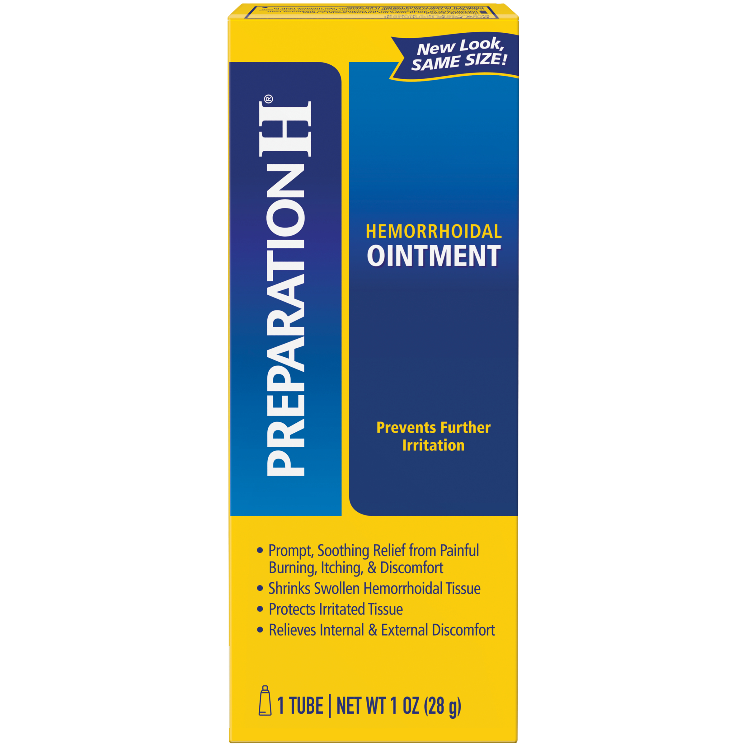 Preparation H Hemorrhoid Symptom Treatment Ointment, Itching, Burning and Discomfort Relief, Tube (1.0 Ounce)