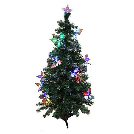 Northlight 3 Ft Pre Lit Fiber Optic Artificial Christmas Tree With Flowers Multi