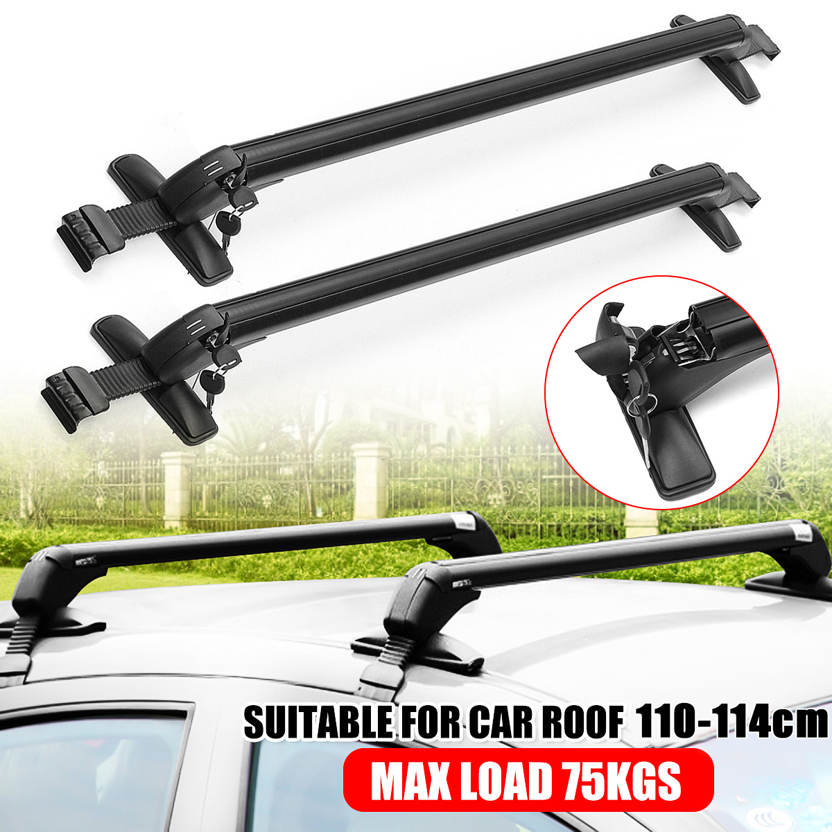 car top luggage roof rack cross bar carrier adjustable window frame car roof bars suit for 43 31 44 88 roof