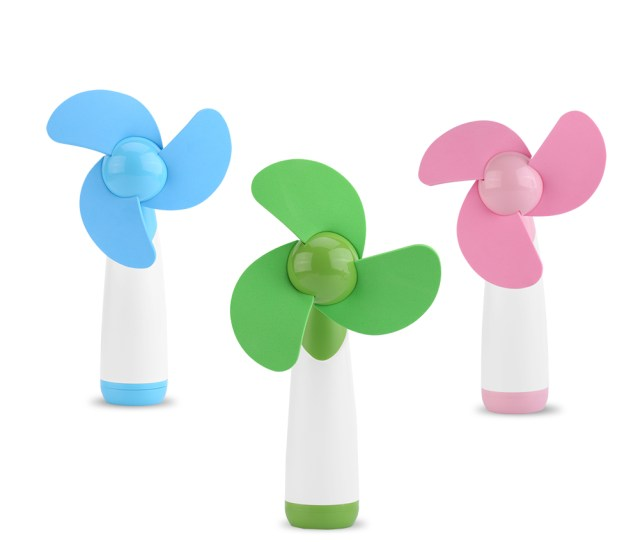 Tbest Portable Handheld Mini Cooling Cool Fan Two Aa Batteries Operated For Home Office Travel