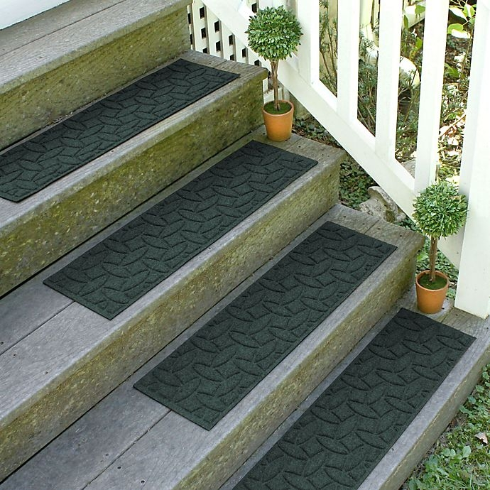 Weather Guard Ellipse 8 5 Inch X 30 Inch Stair Treads In Evergreen   Walmart Outdoor Stair Treads   Rubber Stair   Rubber Backed   Walmart Com   Step Mats   Anti Slip