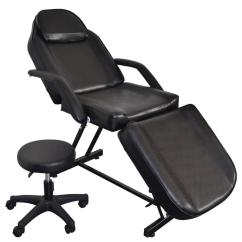 Tattoo Artist Chair Leather Chrome Ktaxon Professional Chairs Bed Table Furniture Equipment With Hydraulic Stool For Salon Beauty Physiotherapy Facial Spa Household Walmart