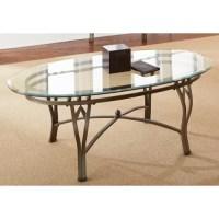 Greyson Living Maison Glass-top Oval Coffee Table ...