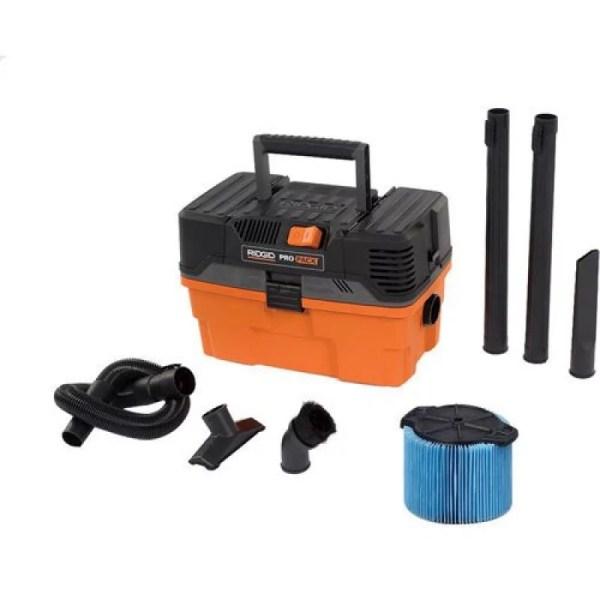 Ridgid Wd4522 4.5 Gallon Pro Pack Portable Wet Dry Vacuum