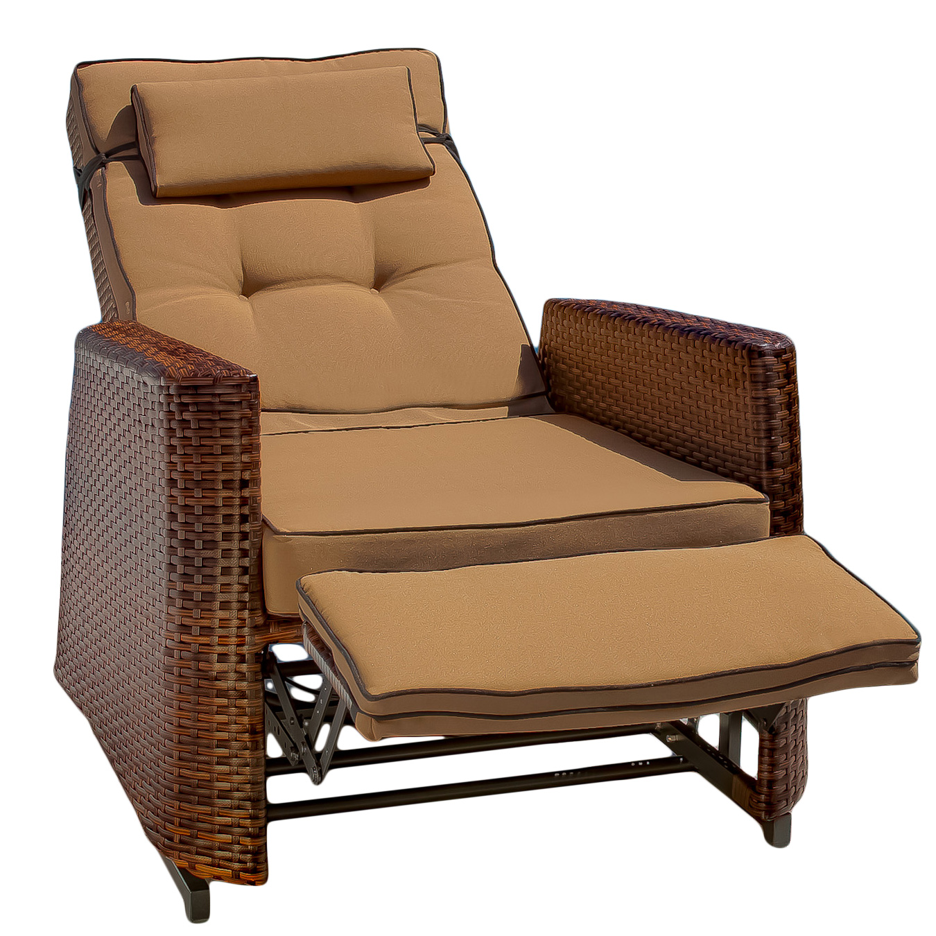 wicker recliner chair fishing game set outdoor recliners walmart com product image brown rocking with cushions