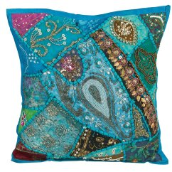 Bright Colored Sofa Pillows Comfortable Sleeper Leather Tribeazure 18 Quot X Boho Hippie Floral Throw Pillow Case