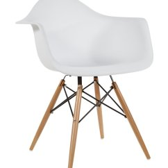 Eiffel Chair Wood Legs Reclining Bed White Modern Style Armchair With Natural Dining Room Lounge Arm