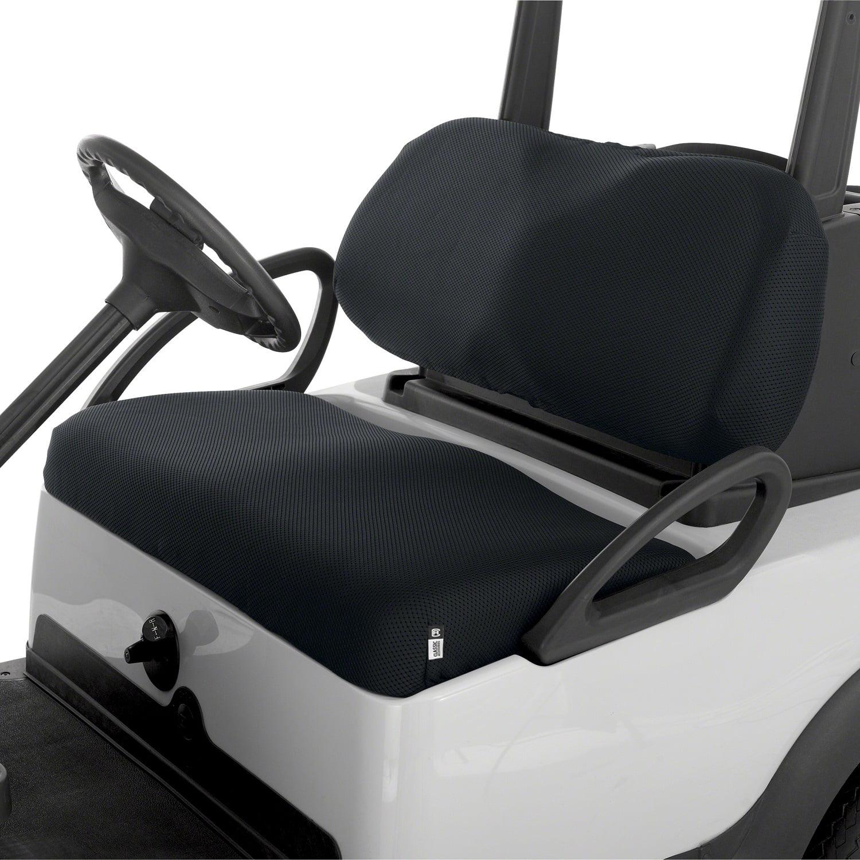 hight resolution of classic fairway golf cart diamond air mesh seat cover black walmart com