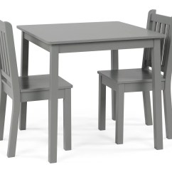 Kids Chair Set Cover Rentals Brantford Curious Lion Wood Large Table And 2 Chairs Grey Walmart Com