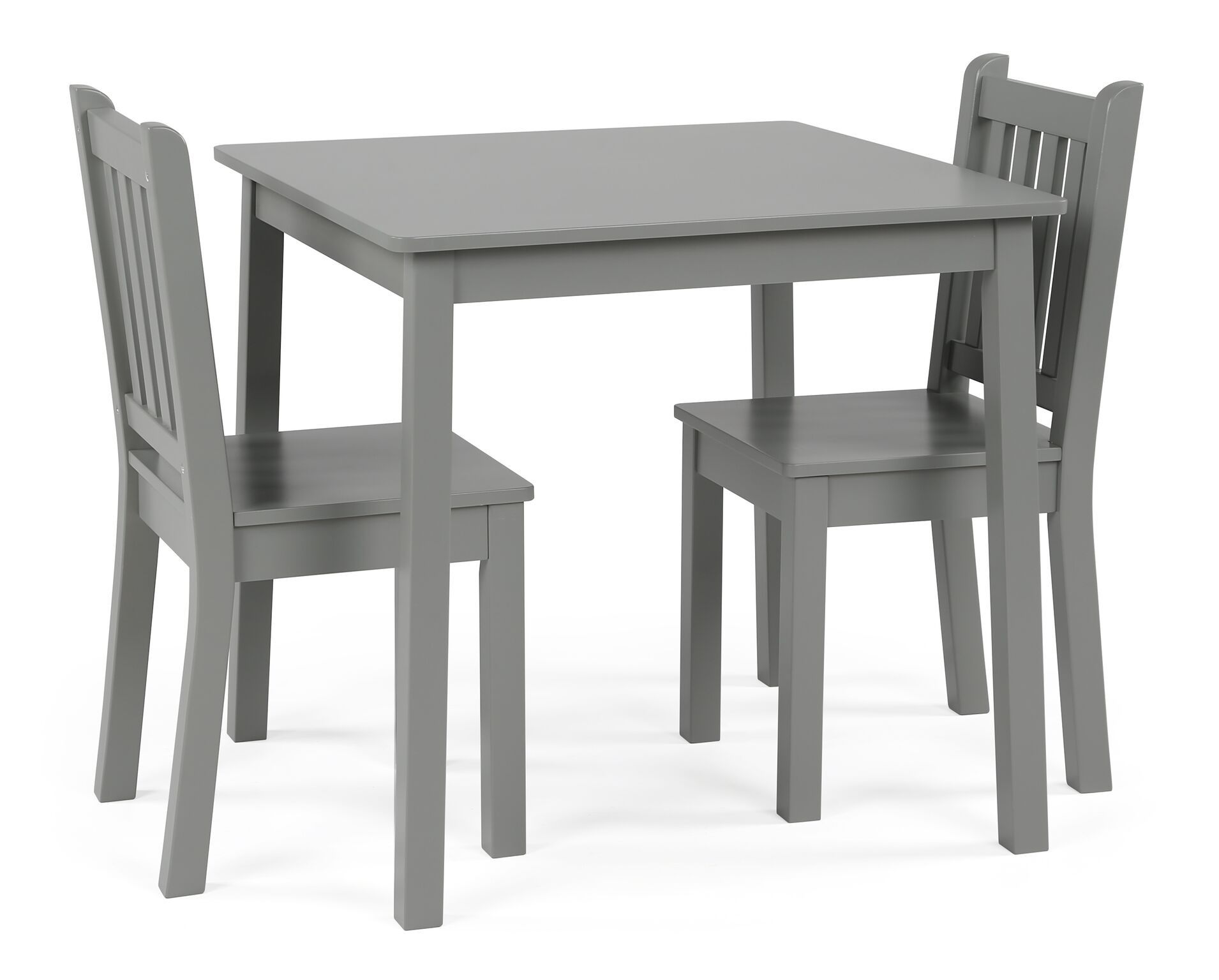Kids Wood Table And Chairs Curious Lion Kids Wood Large Table And 2 Chairs Set Grey