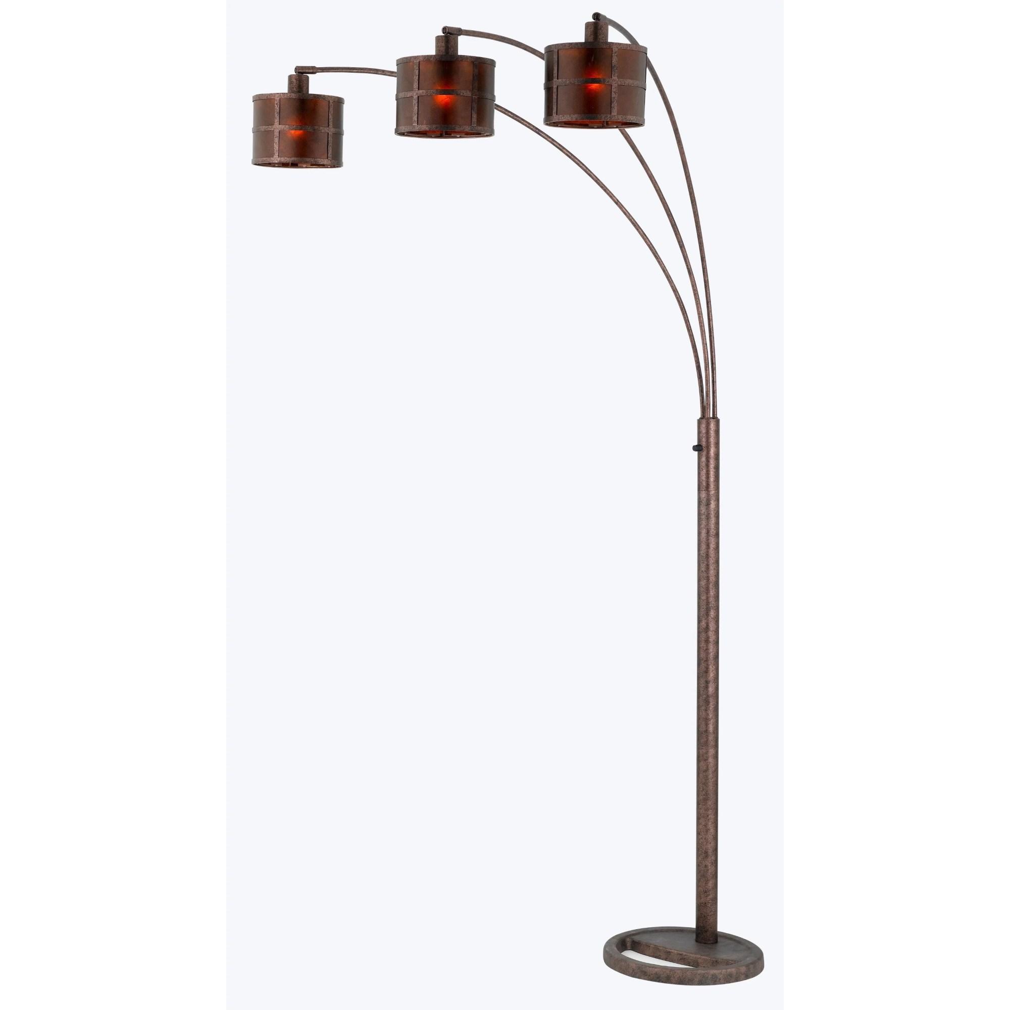 hight resolution of cal lighting bo 2036 mica arc metal floor lamp with 3 way pole switch walmart com
