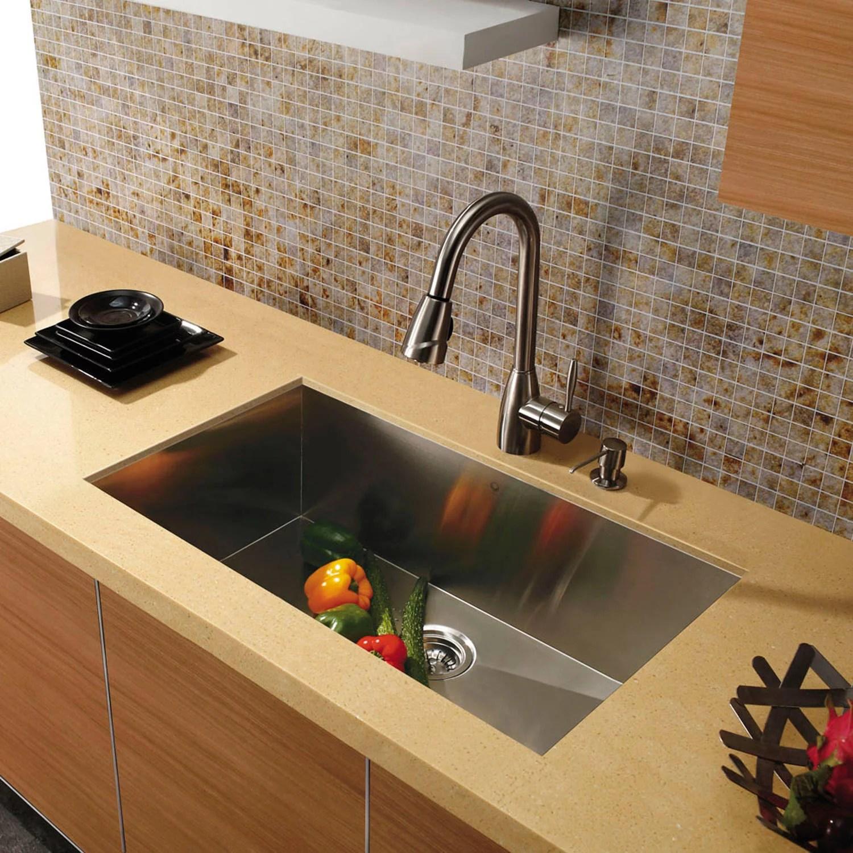 undermount single bowl kitchen sink remodel ideas for small kitchens vigo 30 stainless steel 16 gauge walmart com
