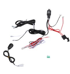 wiring harness kit loom for led work driving light bar with fuse relay 12v 40a walmart com [ 1024 x 1024 Pixel ]