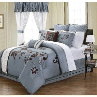 EverRouge Voilla 24-Piece Room in a Bag Bedding and Window ...