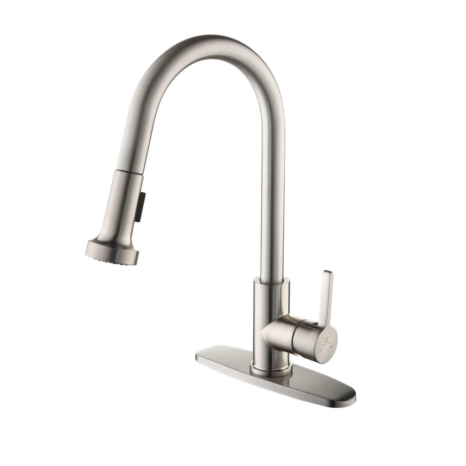 homelody commercial brushed nickel kitchen faucet cupc certificated kitchen faucets with pull down sprayer single handle laundry kitchen faucet with