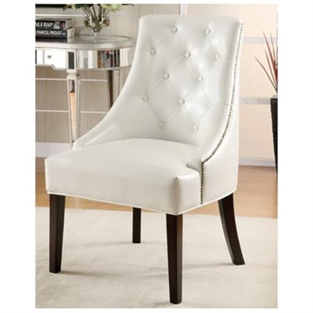 leather accent chairs revolving chair price in surat coaster bonded white walmart com