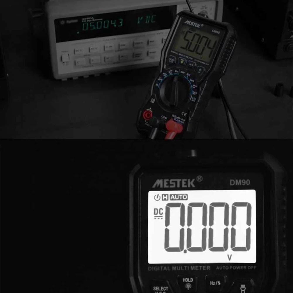 medium resolution of mestek dm90 mini digital multimeter auto range ac dc voltage current frequency capacitance ncv multi meter tester walmart com