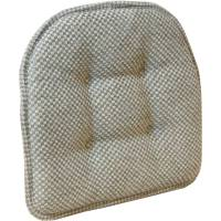 "Gripper Non-Slip 15"" x 16"" Tan Textured Chair Pad ..."