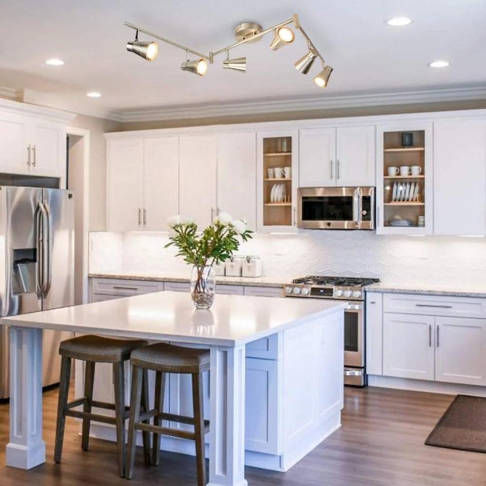 dllt ceiling spotlight fixture 6 light flush mount ceiling track lighting fixture directional track lighting kit for kitchen bedroom dining