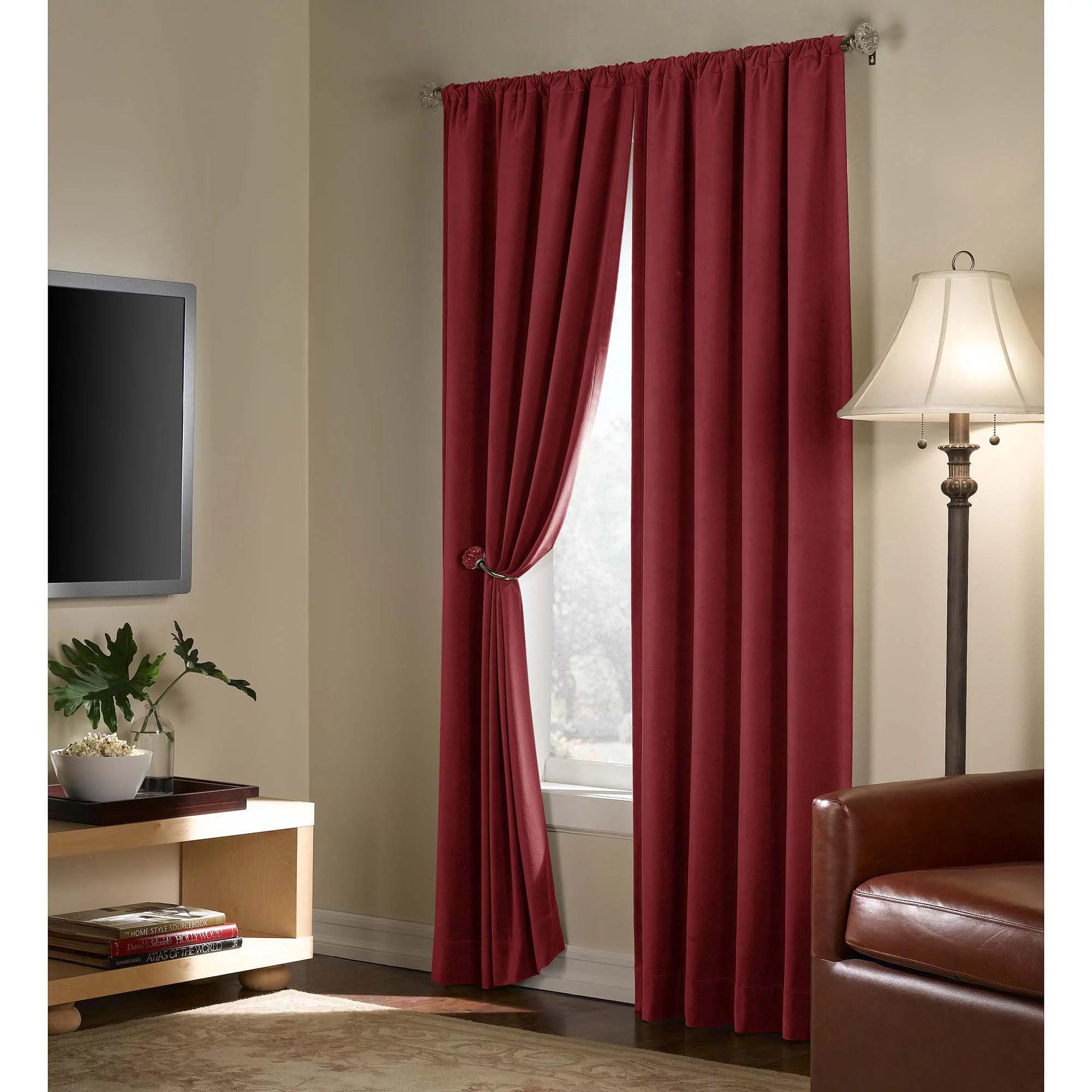 Velvet Blackout Energy Efficient Curtain Panel Walmart
