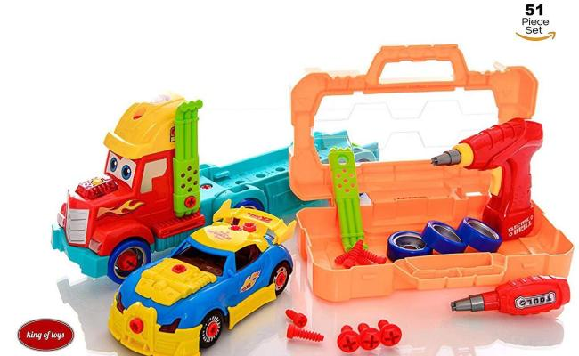 King Of Toys Take Apart 51 Piece Toy Set Truck Carrier