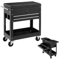 Costway Rolling Mechanics Tool Cart Slide Top Utility ...