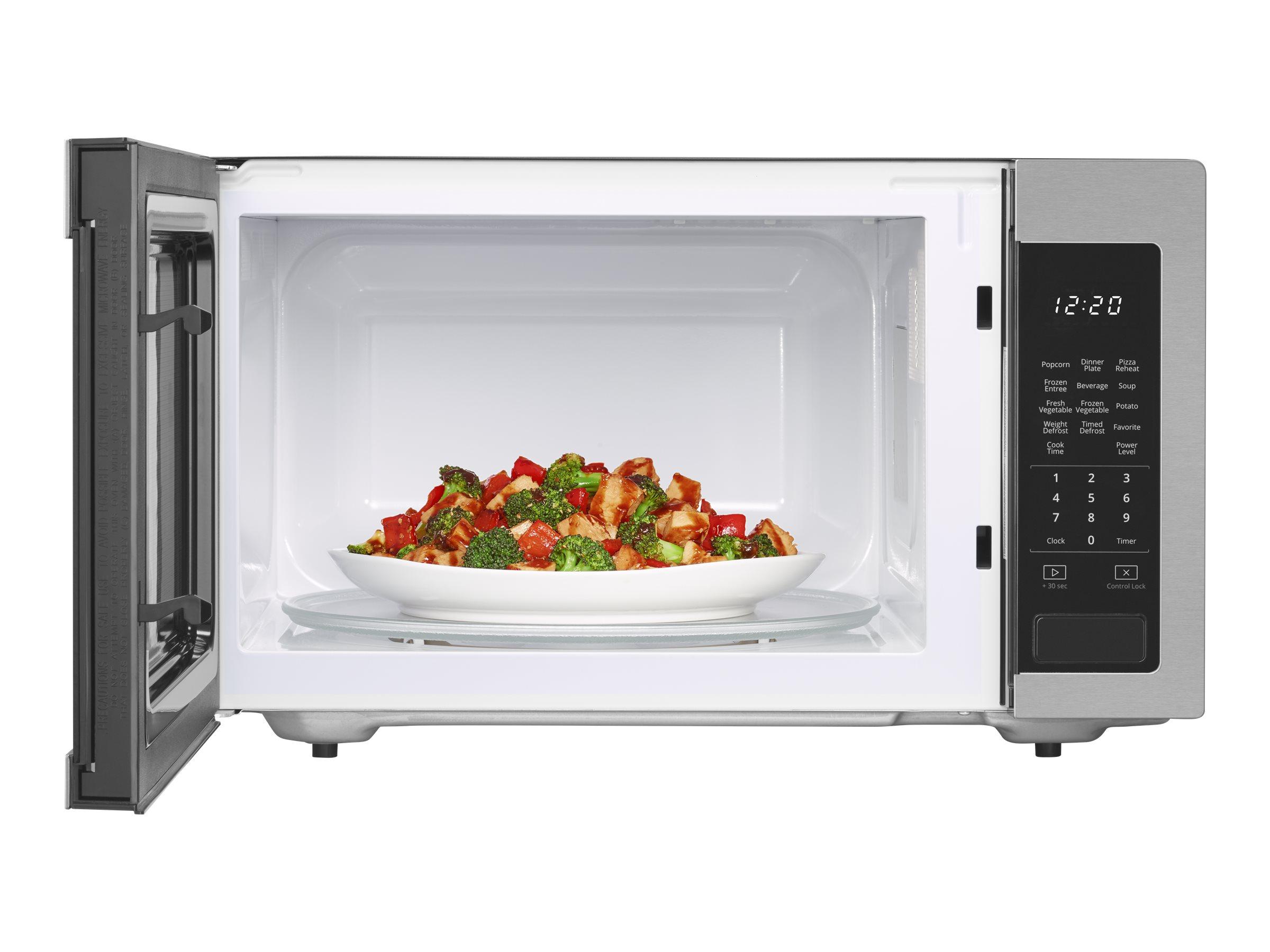 whirlpool wmc30516hz microwave oven freestanding 1 6 cu ft 1200 w stainless steel