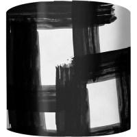 "10"" Drum Lamp Shade, Black and White Checkers"