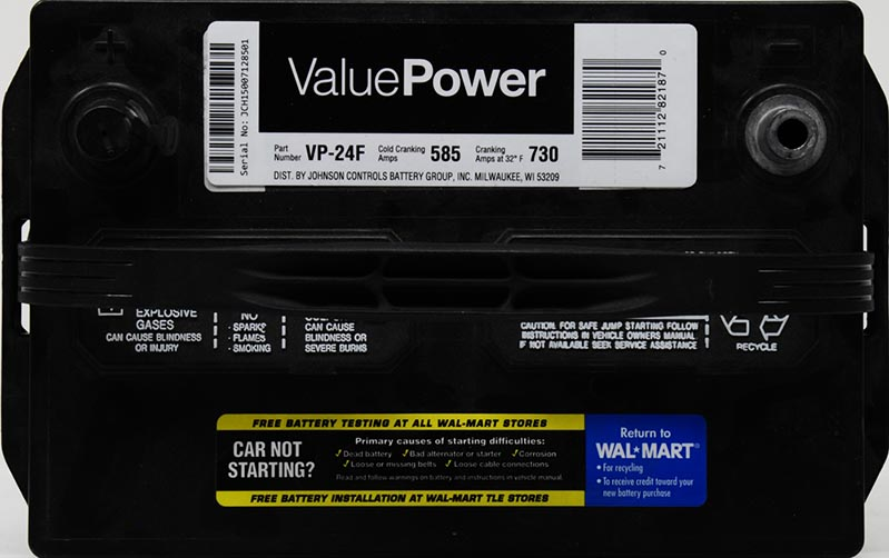 ValuePower Lead Acid Automotive Battery Group 24F  Best