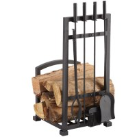 Pleasant Hearth 4-Piece Harper Fireplace Toolset with Log ...
