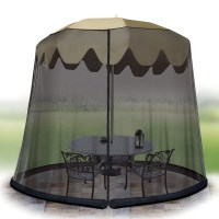 Ideaworks Outdoor 11 Foot Umbrella Table Screen Black ...
