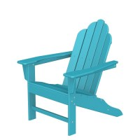 POLYWOOD Long Island Recycled Plastic Adirondack Chair ...