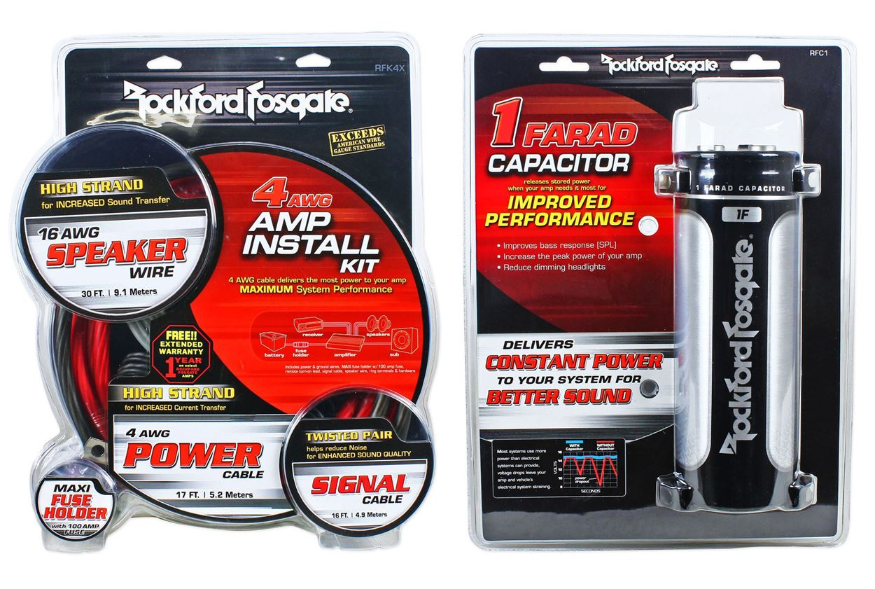 Rockford Rfk4x 4 Awg Complete Amplifier Install Kit Manual Guide