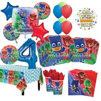 PJ Masks 4th Birthday Party Supplies 8 Guest Kit and ...