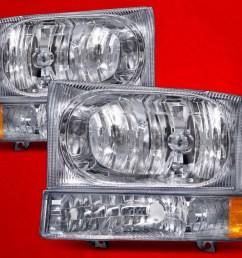 ford 1999 04 f 250 f 350 f 450 superduty excursion chrome headlights set w signal lights fo2502183 fo2503183 walmart com [ 1600 x 1200 Pixel ]