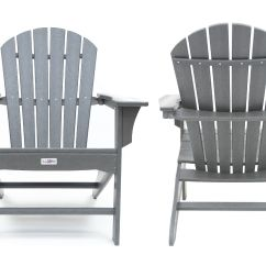 Gray Adirondack Chairs Low Profile Hampton Poly Outdoor Patio Chair 2 Pack Walmart Com
