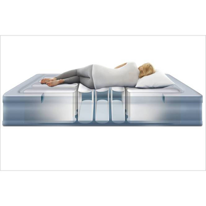 Simmons Beautyrest Lumbar Lux Queen Raised Air Bed Mattress With Built In Pump