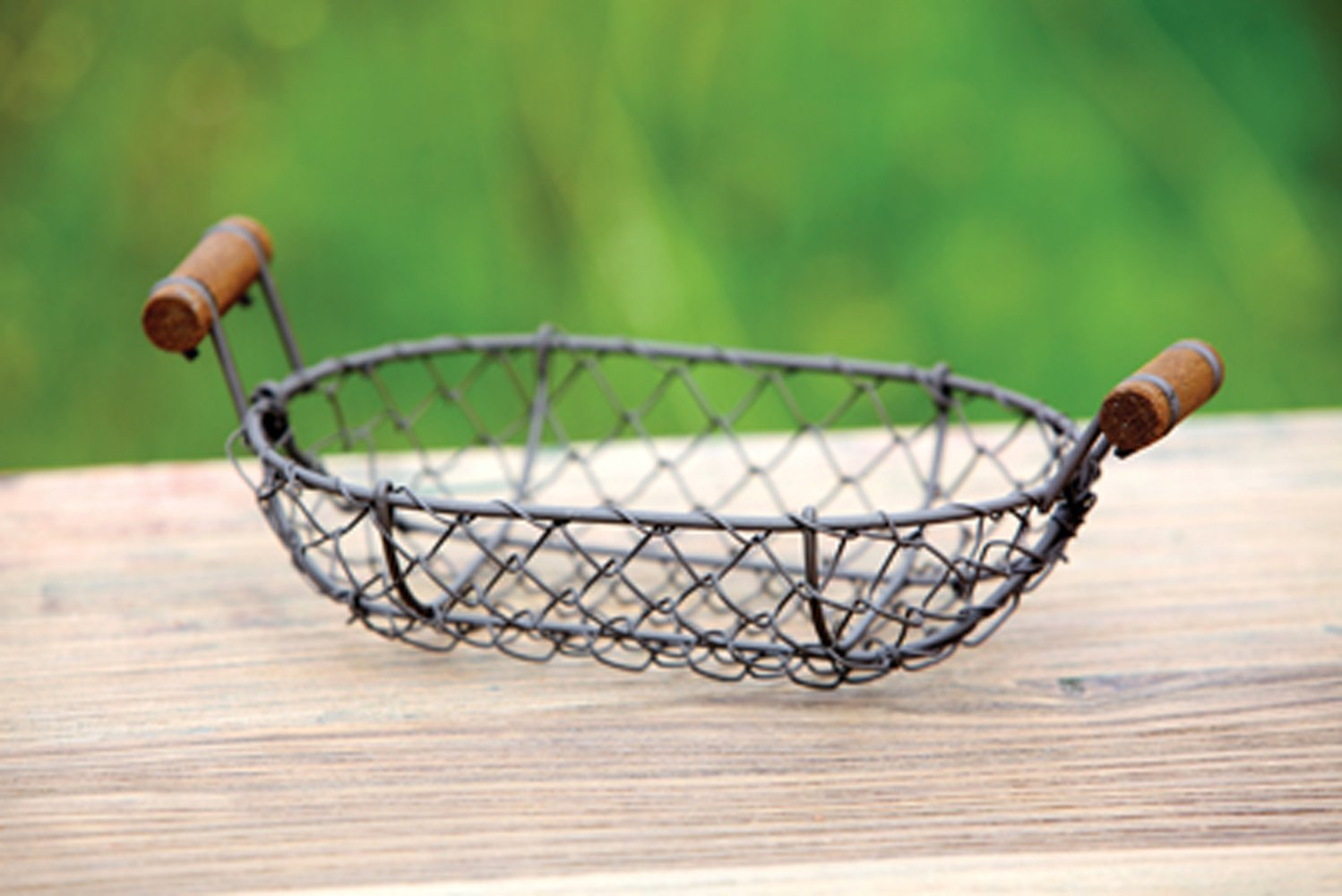 Antique Style Small Wire Basket Shabby Chic Country