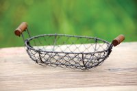 Antique Style Small Wire Basket Shabby Chic Country ...