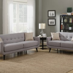 Cheap 2 Piece Living Room Sets Furniture Designs In Nigeria Walmart Com Product Image Crystal Collection Upholstered Mid Century Set With Tufted Sofa And