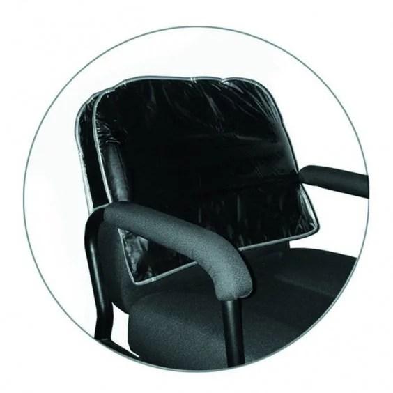 Icarus Black Salon Chair Back Cover Round Corner