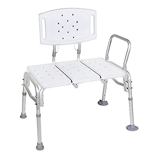 bariatric transport chair 500 lbs diy time out transfer bench adjustable height heavy duty lb plastic seat with back non slip white by healthline walmart com