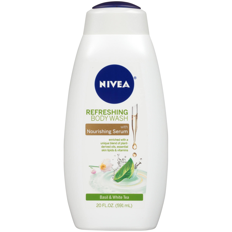 NIVEA Refreshing Basil and White Tea Body Wash with ...