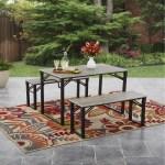 Mainstays Talan Faux Wood Folding Picnic Table And Bench Set Walmart Com Walmart Com