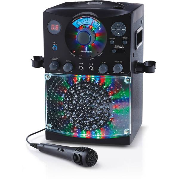 Singing Machine Bluetooth Karaoke System With Led Disco Lights And Microphone 689991226745