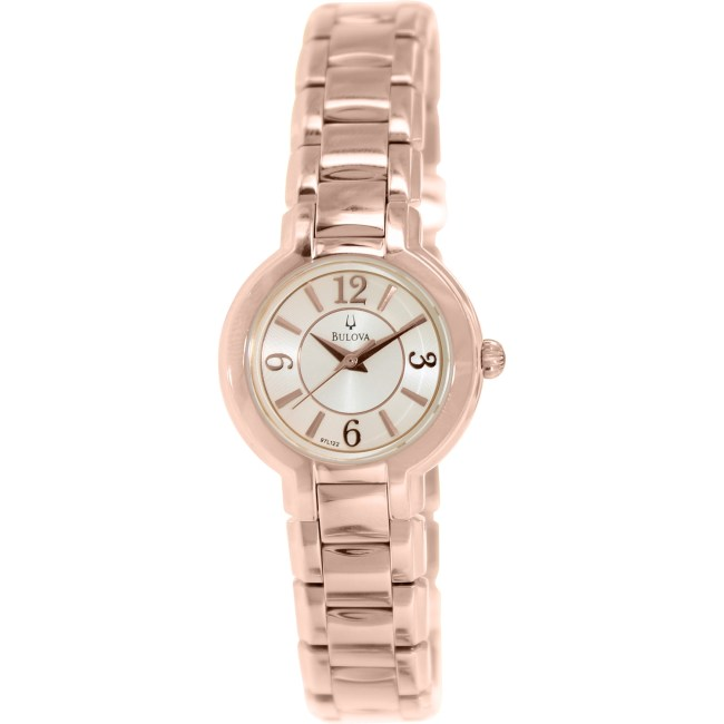 Bulova Women's Dress 97L122 Rose Gold Stainless-Steel Quartz Fashion Watch