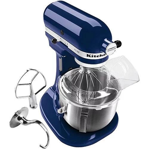 walmart kitchen aid mixer apartment cabinet ideas kitchenaid ksm150psbw artisan series blue willow 5 quart ...