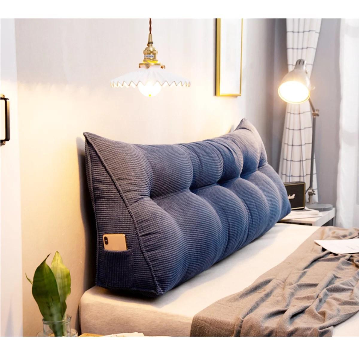 39 47 59 multi color large soft triangular wedge pillow bedside pillow lumbar pad pillow bed sofa reading pillow for bedroom living room walmart com walmart com